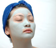 Mask. Asian girl with mask Royalty Free Stock Image