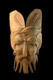 Mask. Handycraft etnic indonesia wih black background stock image