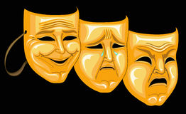 Mask. S of pleasure, grief and rage Royalty Free Stock Photo