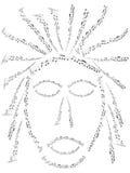 Mask. Illustration of mask, black, white Royalty Free Stock Images