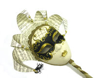 Mask. A photo of an artistic mask with a music theme royalty free stock photos
