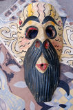 Mask. A mask in a colorful background royalty free stock image