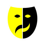 Mask. Comedy tragedy mask on isolated background vector illustration