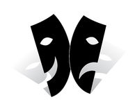 Mask. Comedy tragedy masks - shadow outside Stock Photography