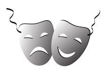 Mask. Comedy tragedy mask on isolated background royalty free illustration