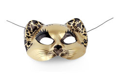 Mask. Comedy tragedy cat mask on isolated background royalty free stock photos