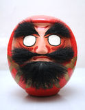 Mask. Traditional Japanese doll mask (red Royalty Free Stock Photo