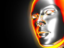 Mask. Closeup of a woman's artificial face Royalty Free Stock Photography