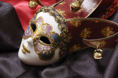 Mask. Venetian mask on a black background stock image