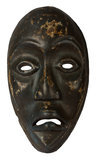 Mask. Wooden mask on white background Royalty Free Stock Photos
