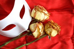 Mask And Roses Royalty Free Stock Image