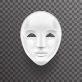 Mask Antique White Face Realistic 3d Transperent Icon Template Background Mock Up Design Vector Illustration Stock Photo
