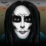 Mask or avatar. For a holiday Halloween vector illustration