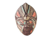 Mask Bali. Wooden mask over white background Royalty Free Stock Photos