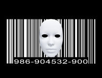 Mask with Bar code Stock Images