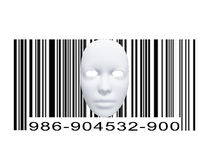 Mask with Bar code Royalty Free Stock Photo