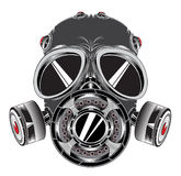 Mask. Big gas mask with filters Royalty Free Stock Images