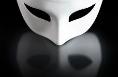 Mask On Black Royalty Free Stock Photography