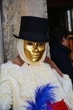 Mask with black hat, Venice, Italy, Europe Stock Photos