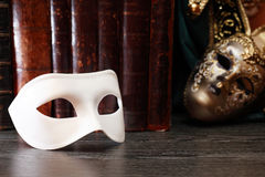Mask And Books Royalty Free Stock Photo