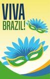 Mask of brazil design Royalty Free Stock Image
