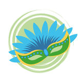 Mask of brazil design Stock Photo