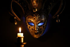Mask And Candle Stock Image