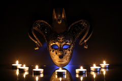 Mask And Candles Stock Images