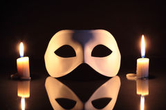 Mask And Candles Royalty Free Stock Photos