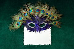Mask and card Royalty Free Stock Photo
