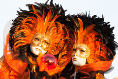Mask on carnival, Piazza San Marco, Venice, Italy Royalty Free Stock Image