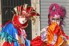 Mask of Carnival of Venice. Some beautiful pics from the most beautiful Carnival of the world: the Carnival Of Venice Italy Royalty Free Stock Photography