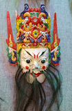 Mask of chinese emperor of heaven. In ancient oriental ritual, mask play an important role. mask have been given a mysterious religious and folk meaning. the Royalty Free Stock Photos