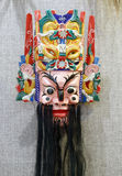 The mask of chinese emperor of heaven. In ancient oriental ritual, mask play an important role. mask have been given a mysterious religious and folk meaning. the Stock Image