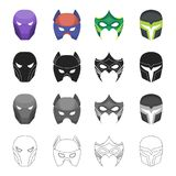 Mask, cinematography, cartoons and other web icon in cartoon style.Superman, main, thing, icons in set collection. Mask, cinematography, cartoons and other Royalty Free Stock Photography