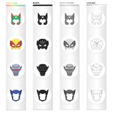 Mask, cinematography, cartoons and other web icon in cartoon style.Thing, dress, film icons in set collection. Mask, cinematography, cartoons and other  icon in Stock Images
