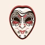Mask clown joker fool. Facial expressions cunning, insidious, crafty.. Mask clown joker fool. Facial expressions cunning insidious crafty. Venice Carnival Mardi Royalty Free Stock Photo
