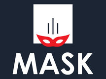 Mask Concept Design Stock Images