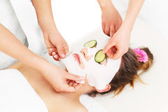Mask and cucumber Royalty Free Stock Photos