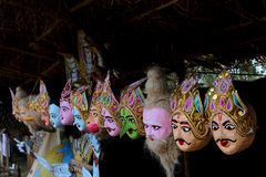 Mask culture of Assam. Masks, also known as mukhas, are said to be the base of the Assamese culture and tradition. They are worn mostly during theatres and Royalty Free Stock Image