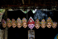 Mask culture of Assam. Masks are said to be the base of Assamese culture Stock Photography