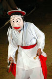 Mask dancer. Traditional performance in South Korea stock photo