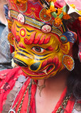 Mask dancer, Kathmandu, Nepal Royalty Free Stock Photography