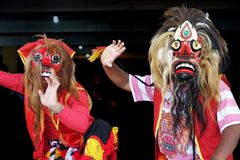 Mask Dancers royalty free stock photo