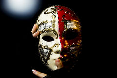 Mask decorating portrait Royalty Free Stock Photos