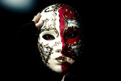 Mask decorating portraits Stock Photos