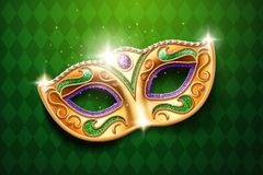 Mask with diamonds for carnival, masquerade vector illustration