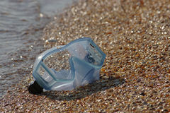 Mask for diving. On Azov sea Royalty Free Stock Photo