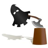 The mask and the executioners ax Stock Photo