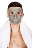 Mask on face Royalty Free Stock Images
